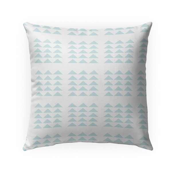 TRIBAL TRIANGLES POWDER BLUE Indoor Outdoor Pillow By Becky Bailey - 18X18