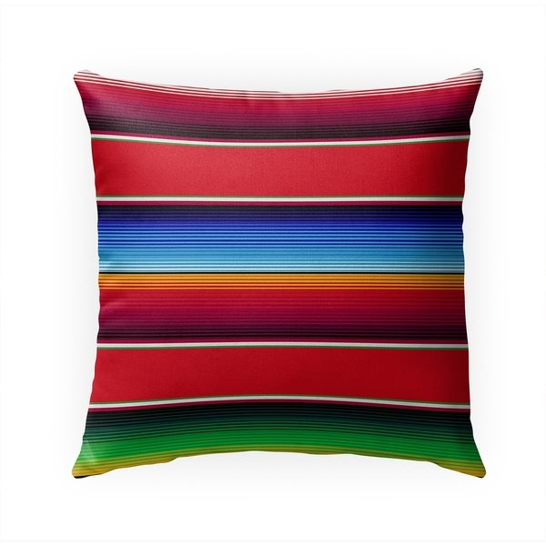 SALTILLO RED Indoor|Outdoor Pillow By Becky Bailey - 18X18