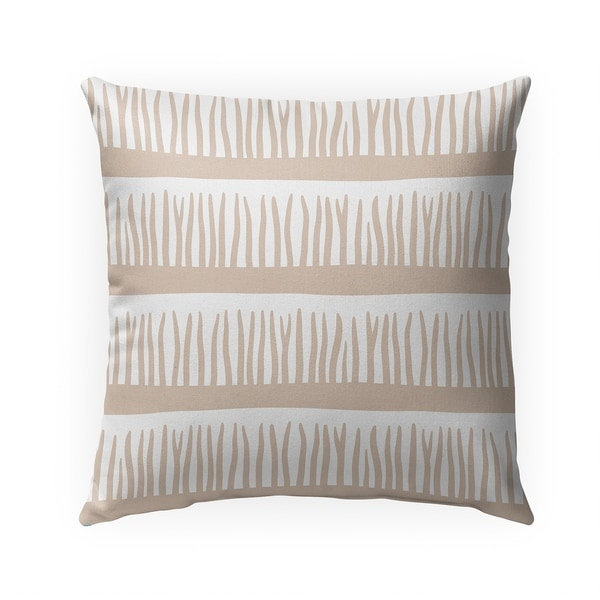 BLADES OF GRASS TAN Indoor|Outdoor Pillow By Becky Bailey - 18X18
