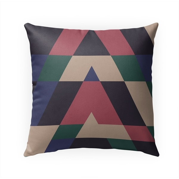 TRIANGLES BLUE Indoor|Outdoor Pillow By Becky Bailey - 18X18