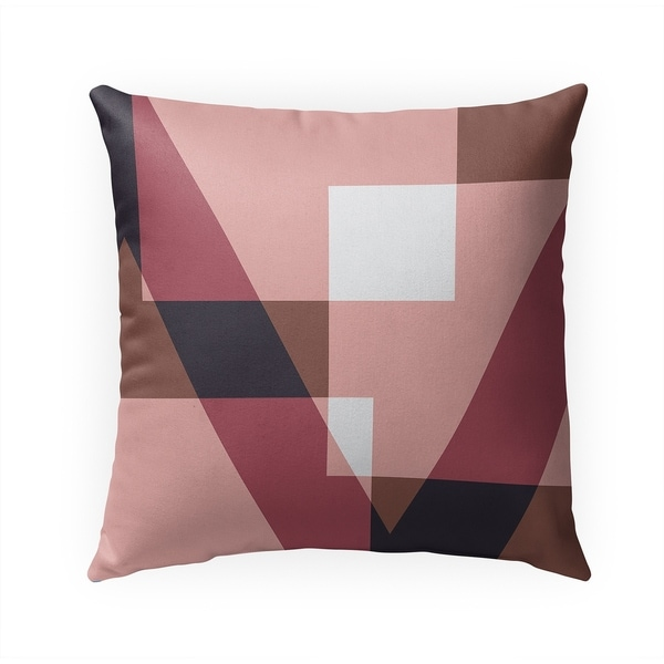 GEOMETRY BLAST Indoor|Outdoor Pillow By Becky Bailey - 18X18