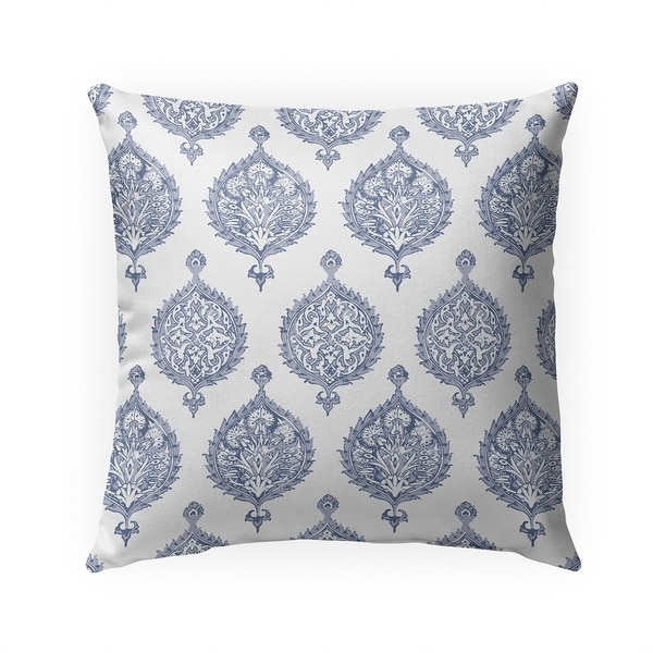 ENDANA PERIWINKLE Indoor|Outdoor Pillow By Becky Bailey - 18X18