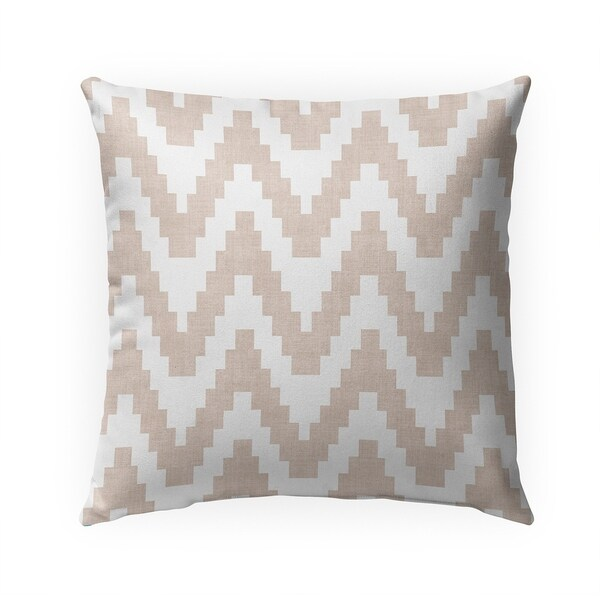 TWINE BEIGE Indoor|Outdoor Pillow By Becky Bailey - N/A - 18X18