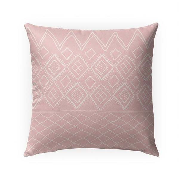 BENI MOROCCAN PRINT PINK Indoor|Outdoor Pillow By Becky Bailey - 18X18
