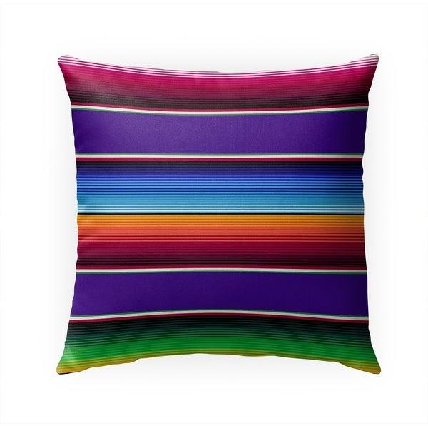 SALTILLO PURPLE Indoor|Outdoor Pillow By Becky Bailey - 18X18