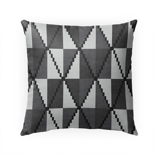 CANE BLACK AND WHITE Indoor|Outdoor Pillow By Becky Bailey - 18X18