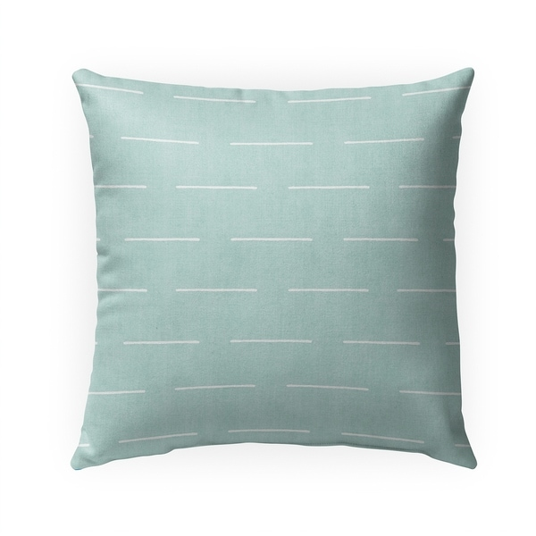 BLOCK PRINT LINES MINT Indoor|Outdoor Pillow By Becky Bailey - 18X18