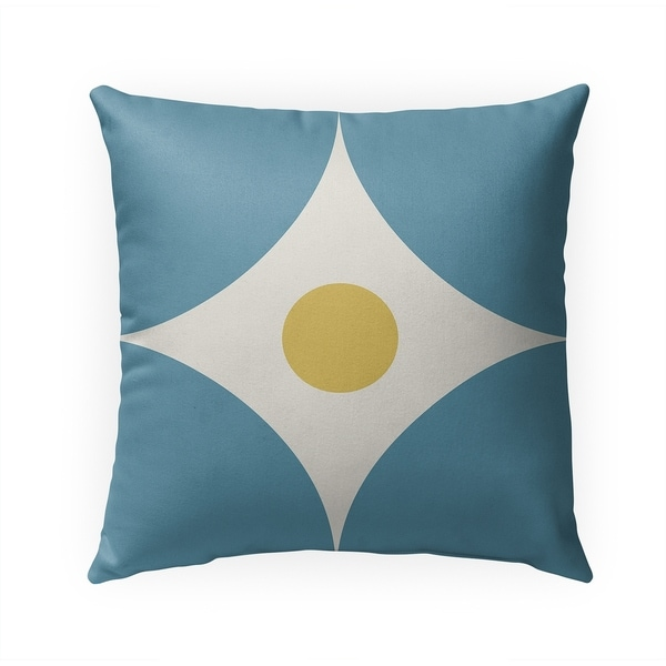 FOUR CORNERS BLUE Indoor|Outdoor Pillow By BG Riley - 18X18