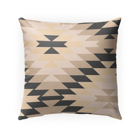 SAN PEDRO TAN GREY Indoor Outdoor Pillow by Kavka Designs - 18X18