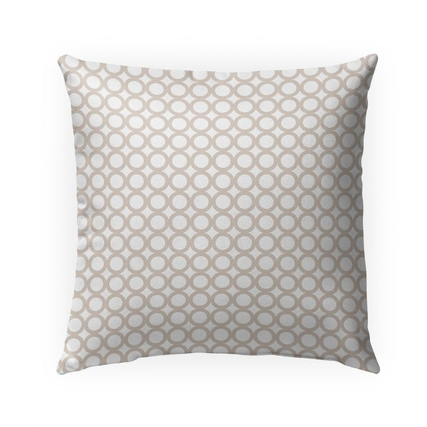SIMPLE CIRCLES BEIGE Indoor Outdoor Pillow By Becky Bailey - N/A - 18X18