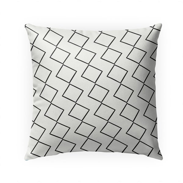 TILTING DIAMONDS Indoor|Outdoor Pillow By Becky Bailey - 18X18