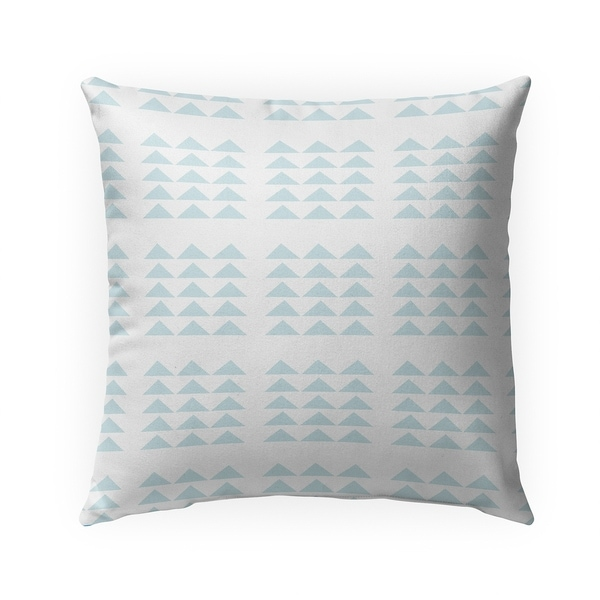 TRIBAL TRIANGLES POWDER BLUE Indoor|Outdoor Pillow By Becky Bailey - 18X18