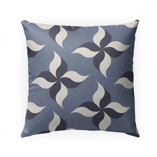 PINWHEELS STONEWASH Indoor|Outdoor Pillow By BG Riley - 18X18