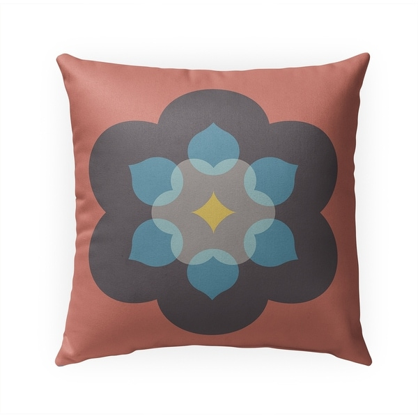 MODERN BLOOM CORAL Indoor Outdoor Pillow By BG Riley - 18X18