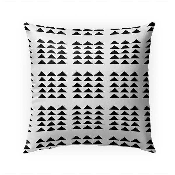 TRIBAL TRIANGLES WHITE AND BLACK Indoor