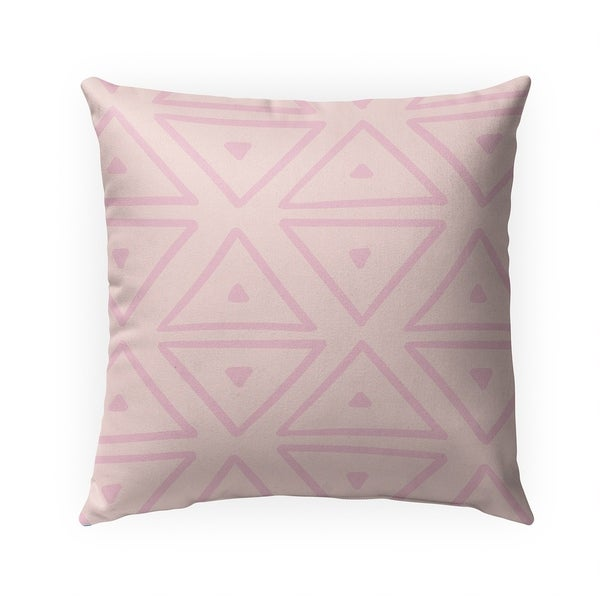 BIG TRIANGLES PINK Indoor|Outdoor Pillow By Becky Bailey - 18X18