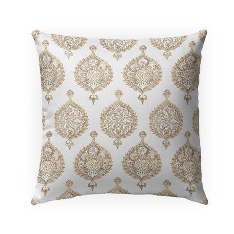 ENDANA TAN Indoor Outdoor Pillow by Kavka Designs - 18X18