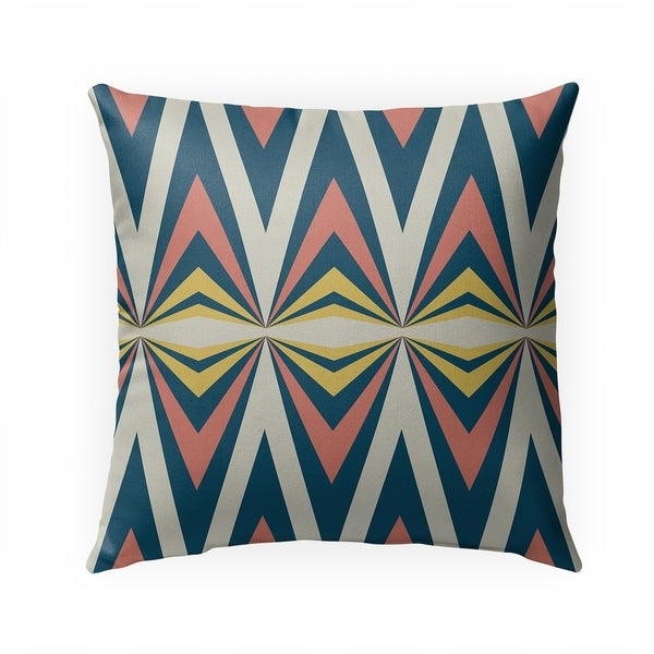 MODERN TRIBAL BLUE Indoor|Outdoor Pillow By BG Riley - 18X18