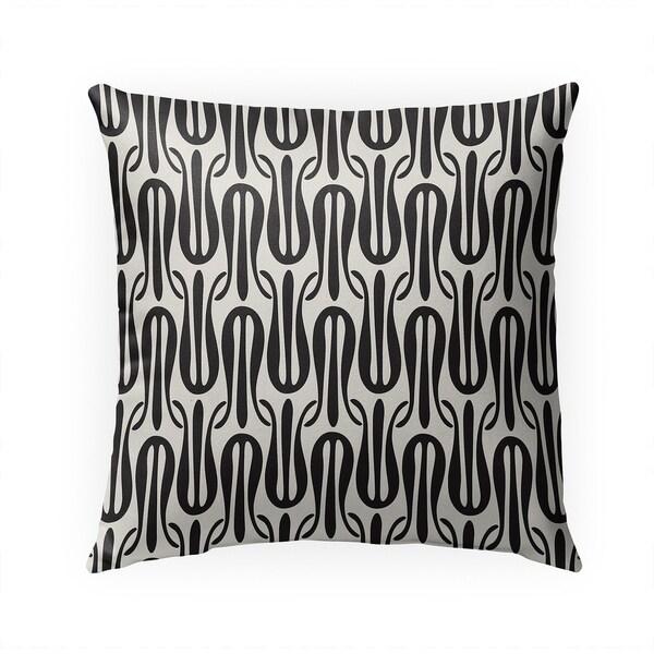 NARROW TULIPS B+W Indoor|Outdoor Pillow By BG Riley - 18X18