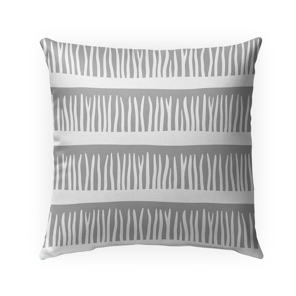 BLADES OF GRASS GREY Indoor|Outdoor Pillow By Becky Bailey - 18X18