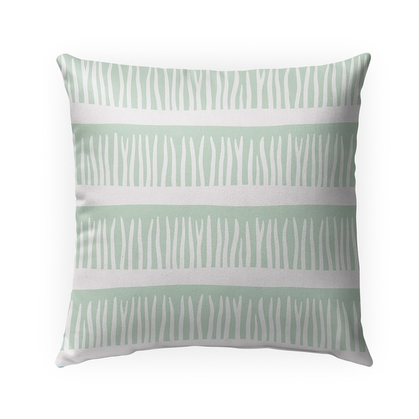 BLADES OF GRASS MINT Indoor|Outdoor Pillow By Becky Bailey - 18X18