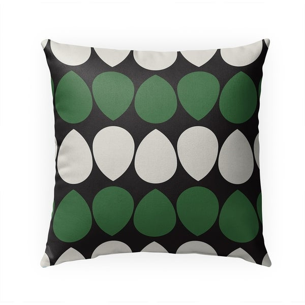 WILMA GREEN Indoor|Outdoor Pillow By BG Riley - 18X18