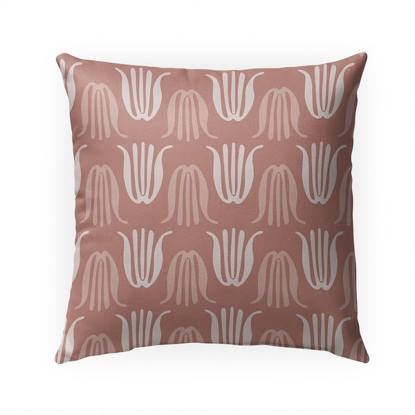 TULIPS DUSTY ROSE Indoor|Outdoor Pillow By BG Riley - 18X18