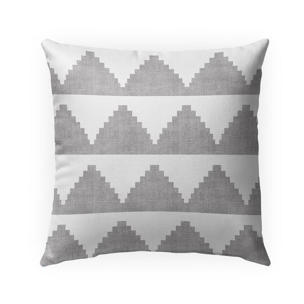 LASH GREY Indoor|Outdoor Pillow By Becky Bailey - 18X18
