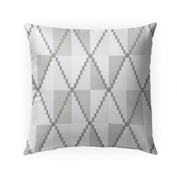 CANE GREY Indoor|Outdoor Pillow By Becky Bailey - 18X18