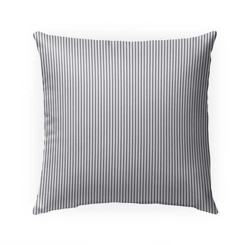 BELMONT STRIPE GREY Indoor Outdoor Pillow by Kavka Designs - 18X18