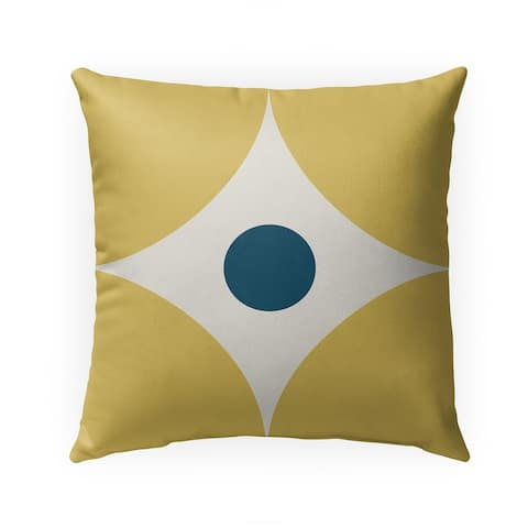 FOUR CORNERS YELLOW Indoor Outdoor Pillow by Kavka Designs - 18X18