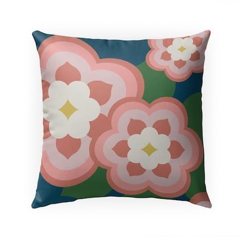 POP FLOWERS PINK Indoor Outdoor Pillow by Kavka Designs - 18X18