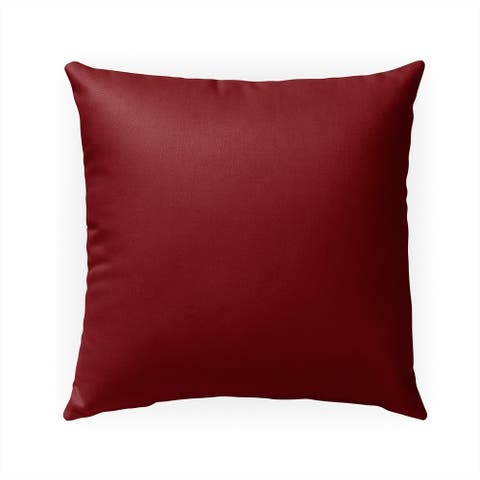 MAROON Indoor Outdoor Pillow by Kavka Designs - 18X18