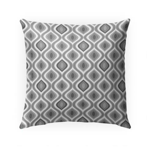 Grey Ikat Indoor/Outdoor 18-inch Throw Pillow by Havenside Home