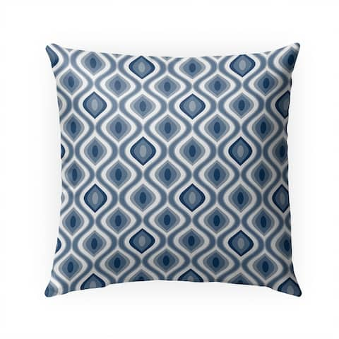 Blue Ikat Indoor/Outdoor 18-inch Throw Pillow by Havenside Home