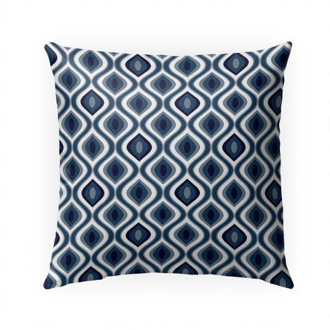 YE NAVY Indoor Outdoor Pillow by Kavka Designs - 18X18