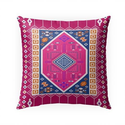 PAC BLUE and PINK Indoor Outdoor Pillow by Kavka Designs - 18X18