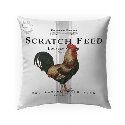SCRATCH FEED Indoor Outdoor Pillow by Kavka Designs - 18X18