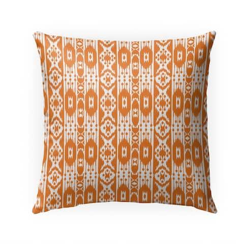 TRIBAL ORANGE Indoor Outdoor Pillow by Kavka Designs - 18X18