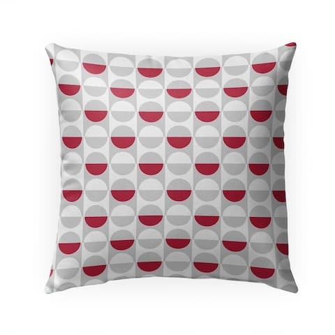 MOD SQUAD RED GREY Indoor Outdoor Pillow by Kavka Designs - 18X18