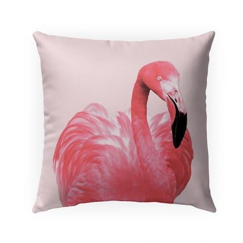 PINK FLAMINGO Indoor Outdoor Pillow by Kavka Designs - 18X18