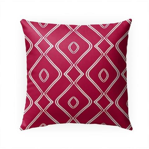 MODERN OGEE MAGENTA Indoor Outdoor Pillow by Kavka Designs - 18X18