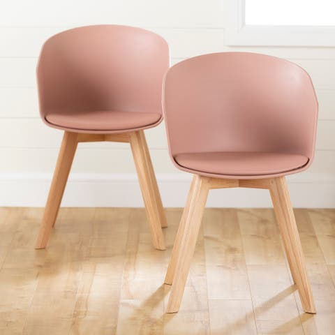 Flam Set of 2 Dinning Chair with Beech Wood Legs