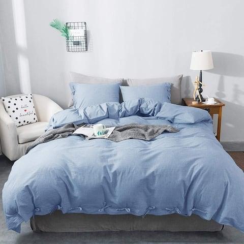 KASENTEX 3-Piece, 100-percent Cotton Duvet Cover and Pillow Sham(s)