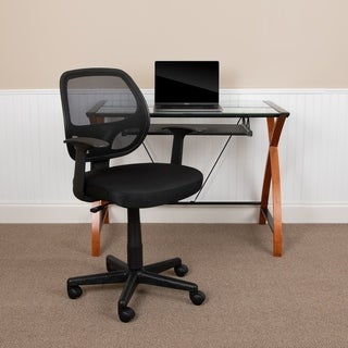 Flash Fundamentals Mid-Back Mesh Swivel Ergonomic Task Office - with Arms - Assembly Required