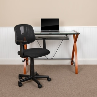 Flash Fundamentals Pivot Back Mesh Swivel Task Office Chair with Arms - Assembly Required