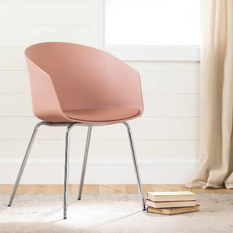 Flam Dinning Chair with Silver Metal Legs