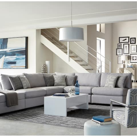 Strick & Bolton Merlino Grey Upholstered 5-piece Sectional