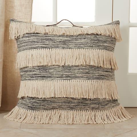 Floor Pillow with Tassel Design