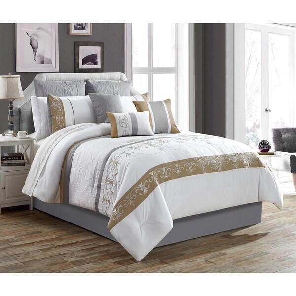 Mosaic 6 Piece Queen Bedroom Set Dark Brown: 7 Piece Comforter Bed Set